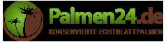 Palmen24.de ☀ konservierte Echtblatt Dekopalmen-Logo